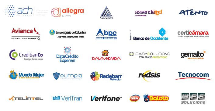 Patrocinadores 7º Congreso de Acceso a Servicios Financieros y Medios de Pago Electrónicos de Asobancaria