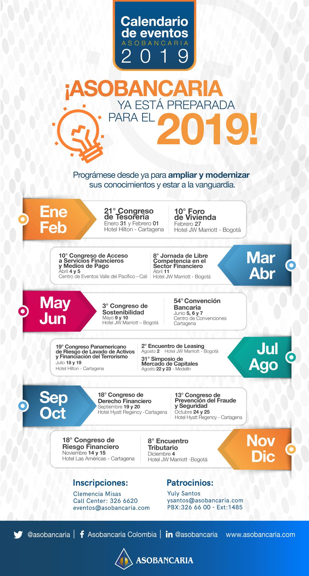 Calendario de eventos 2019
